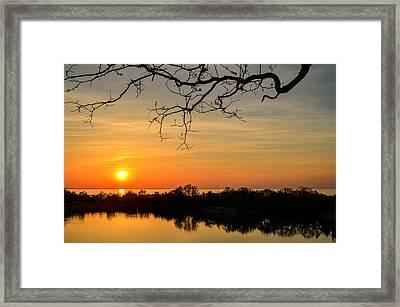 Quarry Sunset Framed Print