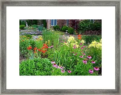 Framed Print featuring the photograph Quarter Circle Garden by Kathryn Meyer