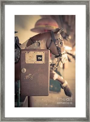 Quarter Horse Framed Print by Edward Fielding