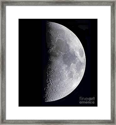Quarter Moon Framed Print