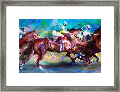 Quarter Racing Blues Framed Print