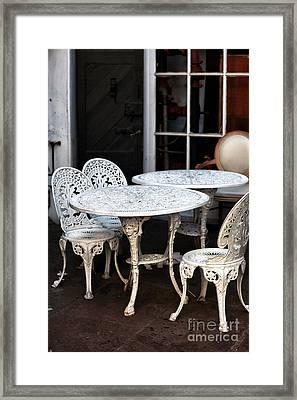 Quarter Tables Framed Print by John Rizzuto