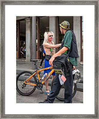 Quarter Talk Framed Print by Steve Harrington