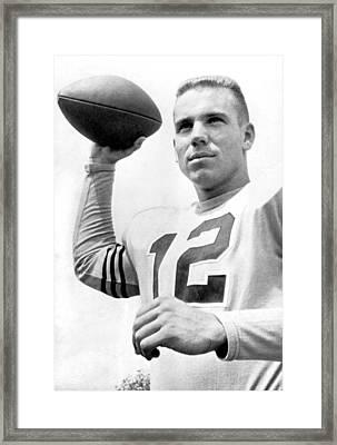 Quarterback Roger Staubach. Framed Print