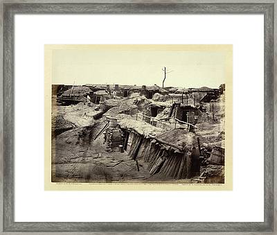 Quarters In Fort Sedgwick Framed Print