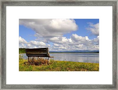 Framed Print featuring the photograph Quartz Lake by Cathy Mahnke
