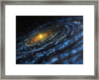 Quasar Framed Print by Don Dixon
