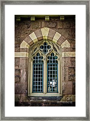 Quatrefoil Window Framed Print by Colleen Kammerer