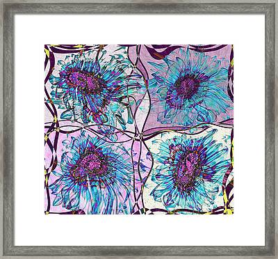 Quatro Floral - 11ac04 Framed Print by Variance Collections