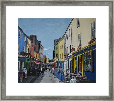Quay St Galway Ireland Framed Print by Diana Shephard