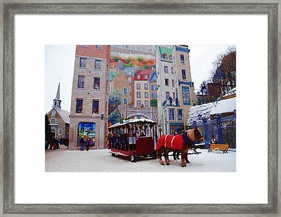 Quebec City Holiday Framed Print by Jacqueline M Lewis