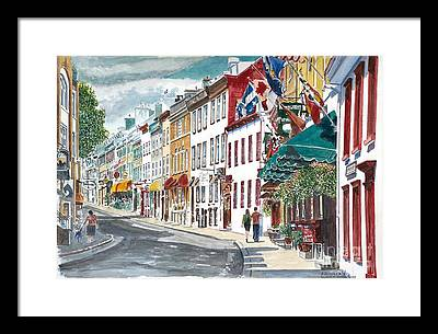 Canadian Flag Paintings Framed Prints