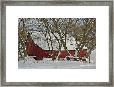 Quebec Winter Framed Print by Joshua McCullough