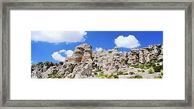 Quebrada Aroma In The Chilean Altiplano Framed Print