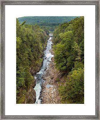 Quechee Gorge State Park Framed Print