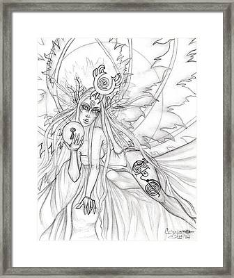 Queen Aene Framed Print by Coriander  Shea