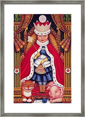 Queen Alice, 2008 Oil And Tempera On Panel Framed Print by Frances Broomfield
