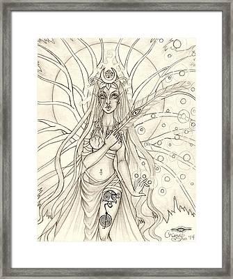 Queen Altheia Framed Print by Coriander  Shea