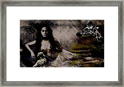 Queen And Courtiers Framed Print by Maria Jesus Hernandez