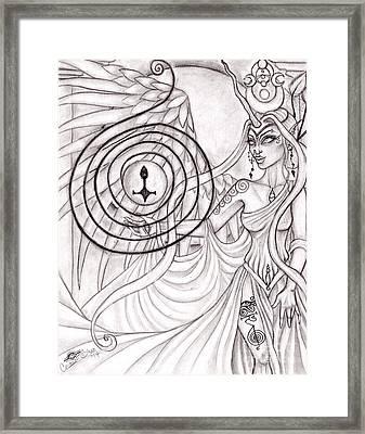 Queen Arianrhod Framed Print by Coriander  Shea