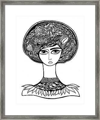 Queen Artichoke Framed Print by Jody Pham