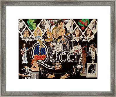 Queen - Black Queen White Queen Framed Print by Sean Connolly