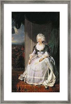 Queen Charlotte, 1789-90, Wife Of George IIi Oil On Canvas Framed Print by Sir Thomas Lawrence