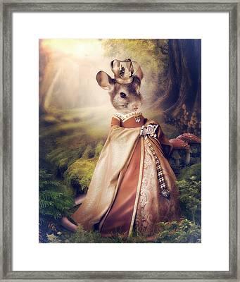 Queen Framed Print by Cindy Grundsten