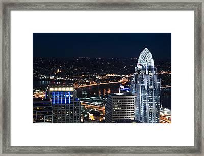 Queen City At Night Framed Print