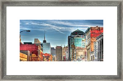 Queen City Downtown Framed Print