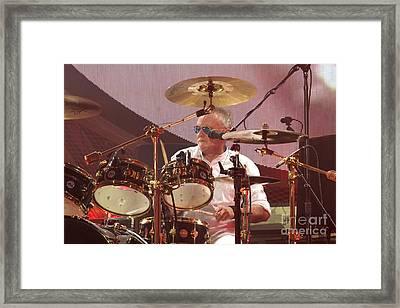 Queen Drummer Roger Taylor Framed Print by Concert Photos
