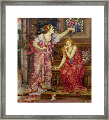 Queen Eleanor And Fair Rosamund Framed Print by Evelyn De Morgan