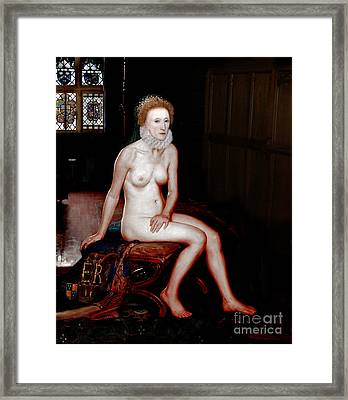 Queen Elizabeth I Seated Nude Framed Print