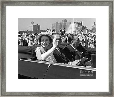 Queen Elizabeth In Chicago 1959 Framed Print