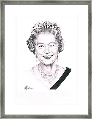 Queen Elizabeth Framed Print by Murphy Elliott