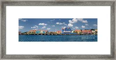 Queen Emma Bridge Open Curacao Framed Print by Amy Cicconi
