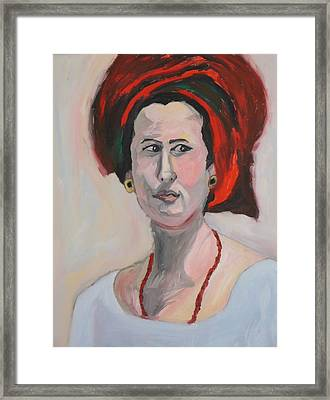 Queen Esther Framed Print by Esther Newman-Cohen