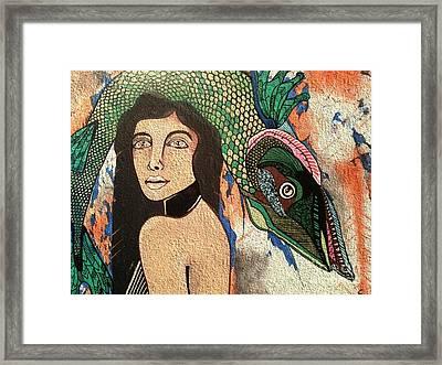 Queen Fish Head Framed Print