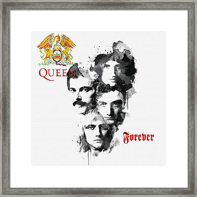 Queen Forever Framed Print by Don Kuing