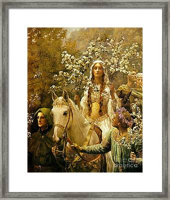 Queen Guinevere - Maying Framed Print by Pg Reproductions