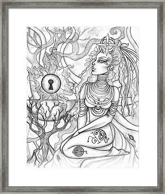 Queen Haelane Framed Print by Coriander  Shea