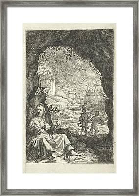 Queen Hidden In A Cave, Willem Basse, Jacob Lescailje Framed Print by Willem Basse And Jacob Lescailje