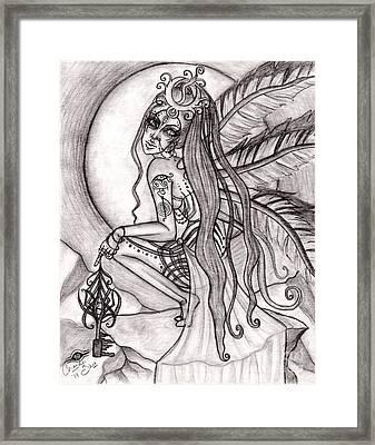 Queen I' Eloraii Framed Print by Coriander  Shea