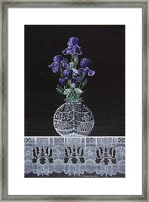 Queen Iris's Lace Framed Print