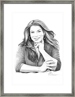 Queen Latifah Framed Print by Murphy Elliott