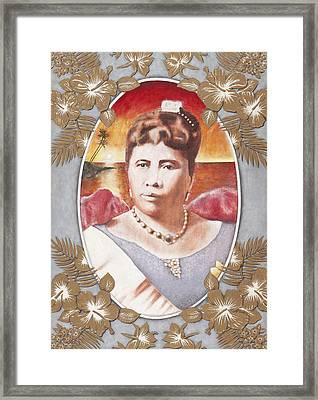Queen Lili'uokalani Framed Print by Alan Fine