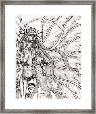 Queen Mabh Framed Print by Coriander  Shea