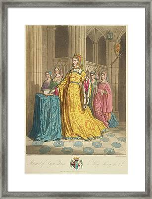 Queen Margaret Of Anjou Framed Print by British Library