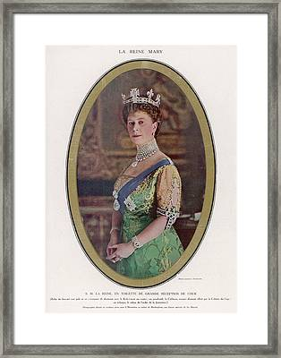 Queen Mary (1867 - 1953) Wearing Framed Print by Mary Evans Picture Library