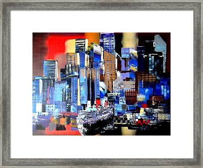Queen Mary 2 Docking At New York Framed Print by Eraclis Aristidou